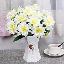 Beata.T Künstliche Blumen Set Wohnzimmer Tisch Verziert Mit Idyllischen Kleinen Blumen Seide Blume Innendekoration Ornamente Blumen, H