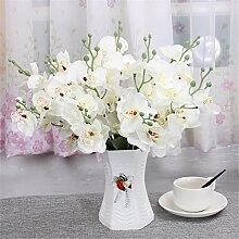 Beata.T Künstliche Blumen Set Wohnzimmer Tisch Verziert Mit Idyllischen Blumen Blumen Blumen Innendekoration Ornamente Blumen, N