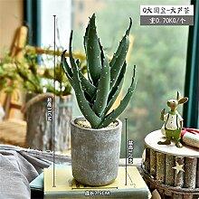 Beata.T Künstliche Blumen Voll Von Kleinen Grünen Pflanzen Simulation Kaktus Vergossen Kreative Heimtextilien Dekoration, O