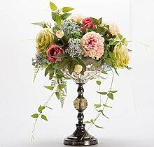 Beata.T Lucie Mudan-Artificial Blumen-Emulation, die florale Dekoration der Blume Home Zubehör, Rosa