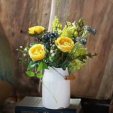 Beata.T Tea-Flower Garten-Emulation, die florale Dekoration der Blume silk Blume Künstliche Blumen Wohnzimmer eingerichtet Cafe Kleben, Klein