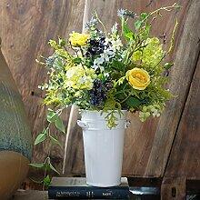 Beata.T Tea-Flower Garten-Emulation, die florale Dekoration der Blume silk Blume Künstliche Blumen Wohnzimmer eingerichtet Cafe Kleben, Groß