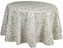 Beaucaire indienne Natur, Provencetischdecke rund,