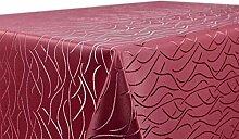 BEAUTEX Tischdecke Damast Streifen - Bügelfreies