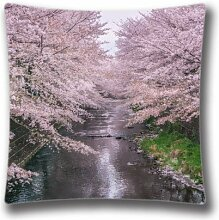 Beautiful Blossom Macro Standard Size Design Square Pillowcase- Custom Pillowcase with Invisible Zipper in 16X16 inches AnasaC25345