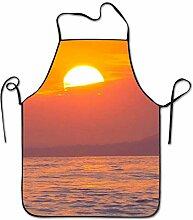 Beautiful Colorful Sunset Of Beach Aprons Bib Mens