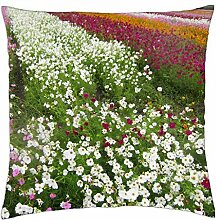 "Beautiful flower field - Throw Pillow Cover Case (18"" x 18"")"