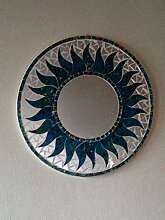 Beautiful Sun geformter, Glas Mosaik, Spiegeln. Wahl der Farben. Fair Trade blau