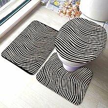 Beauty-Design Zebra Quilt Schwarz und Weiß Ecru