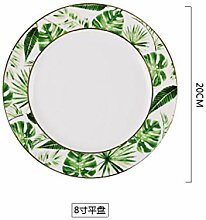 Beauty Gold European Style Grüne Pflanzen Muster