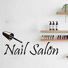 Beauty Nagelstudio Logo Fenster Wandaufkleber