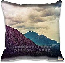 Beauty Of Hills Pillow Case Sofa Waist Throw Cushion Cover Home D¨¦cor 20x20(2 Sides)
