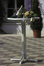 Beauty.Scouts Stehtisch Bistrotisch Vesta - klappbar, rund: 70 cm - Weiß