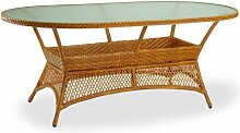 Beauty.scouts Tisch Gartentisch Korbtisch Kitts & Nevis (BxTxH) 180 x 100 x 73 cm