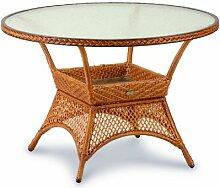 Beauty.scouts Tisch Gartentisch Korbtisch Orlando - Caramel