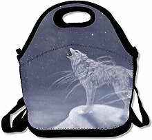Beauty Sky Wolf Punk Lunch Bag Reusable Lunch Tote
