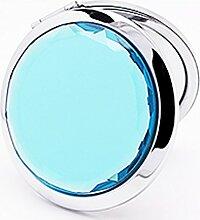Beauty360 Make-up-Spiegel doppelseitiger Edelstahl 7x6cm (hellblau)