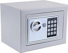 Beautytalk Tresor Safe mit Elektronik-Zahlenschloss 31x20x20cm Stahlbolzen (DE Lager) (Grau)