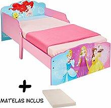 BEBEGAVROCHE Bett Disney Prinzessin Traum + Matratze