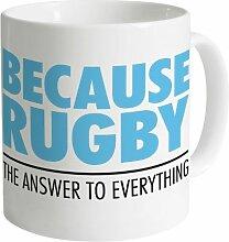 Because Rugby Becher, Weiß