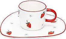 Becher 10.1 oz Kaffeetasse Becher mit Saucer Tee