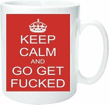 Becher 2132 Rude Keep Calm and Carry On Old WW2 Werbung Fun Funny Retro Qualität Foto Tasse