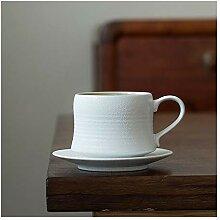 Becher 7.4 oz Porzellan Kaffeetasse und Untertasse