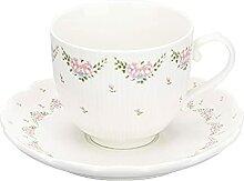 Becher 8,5 oz Keramik Kaffeetassen und Untertassen