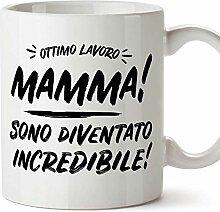 (Becher auf Italienisch) Gute Arbeit Mama 2