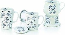 Becher auf Stövchen Tea Time Porzellan 0,35 l