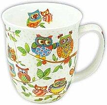 Becher Eulenfamilie Kaffeebecher Teebecher