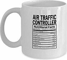 Becher für Flugsicherung auf beiden Seiten gedruck