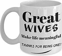 Becher für Frau. Bestes Weihnachtsgeschenk für