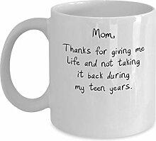 Becher für Mamma, Dank für das Geben mir der