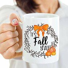 Becher für Sie Es ist Herbst Y alle Becher