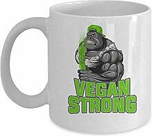 Becher-Gorilla - Vegan stark - Zootier-Geschenk -