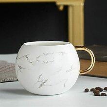 Becher Kaffeetasse Druck mit Gold 53 0ML Frauen