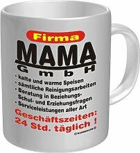 Becher Kaffeetasse Firma Mama GmbH Geschenk Geburtstag Muttertag