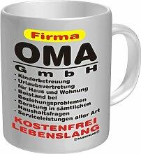Becher Kaffeetasse Firma Oma GmbH Geschenk zum Geburtstag Keramik