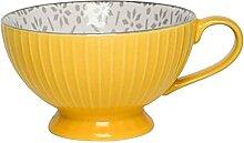 Becher Kaffeetasse,Keramik Großer Bauchbecher Mit
