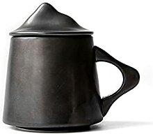 Becher Kaffeetasse,Keramikbecher Mit Deckel