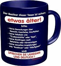 Becher Kaffeetasse schon etwas älter Geschenk Geburtstag Ruhestand