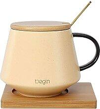 Becher Kaffeetasse und Untertasse Set mit Löffel