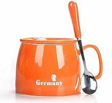 Becher Kaffeetassen Teetassen Mugs Orange
