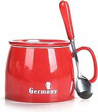 Becher Kaffeetassen Teetassen Mugs Roter Bedeckter