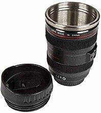 Becher Kamera Objektiv mit Edelstahleinsatz - Kaffeebecher, Kaffeetasse, Männergeschenk