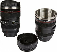 Becher Kamera Objektiv mit Edelstahleinsatz -