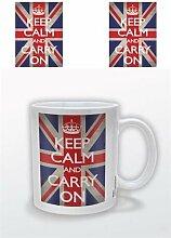 Becher Keep Calm Union Jack 12oz