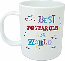Becher Keep Calm You 're Only 7070. Geburtstag Geschenkidee. Perfektes Geschenk für Sie, Ihn, Sohn oder Tochter