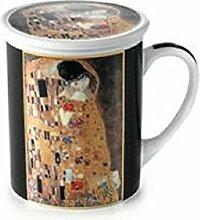 Becher Klimt Der Kuss Kaffeebecher mit Sieb